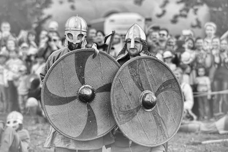 Viking-slag stock foto