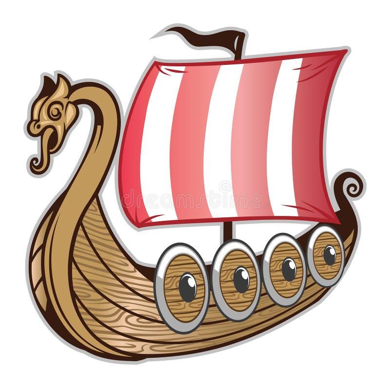 Viking statek royalty ilustracja