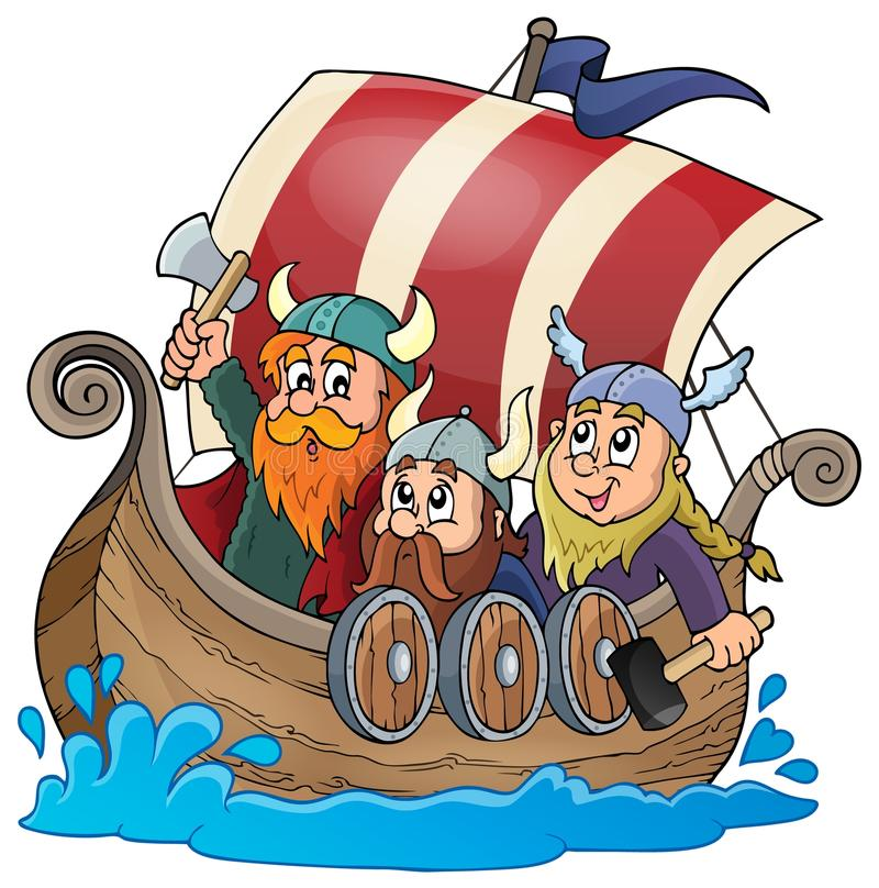 Viking statku tematu wizerunek 1 royalty ilustracja