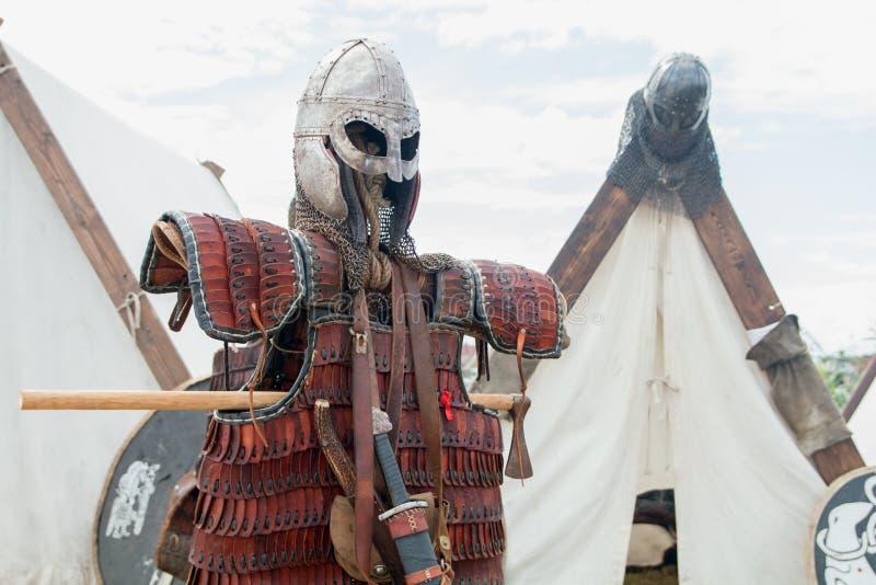 Viking stridpansar royaltyfria foton