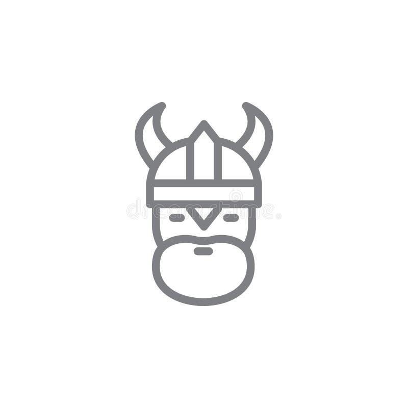 Viking symbol Best?ndsdel av myphologysymbolen Tunn linje symbol f?r websitedesignen och utveckling, app-utveckling h?gv?rdig sym royaltyfri illustrationer