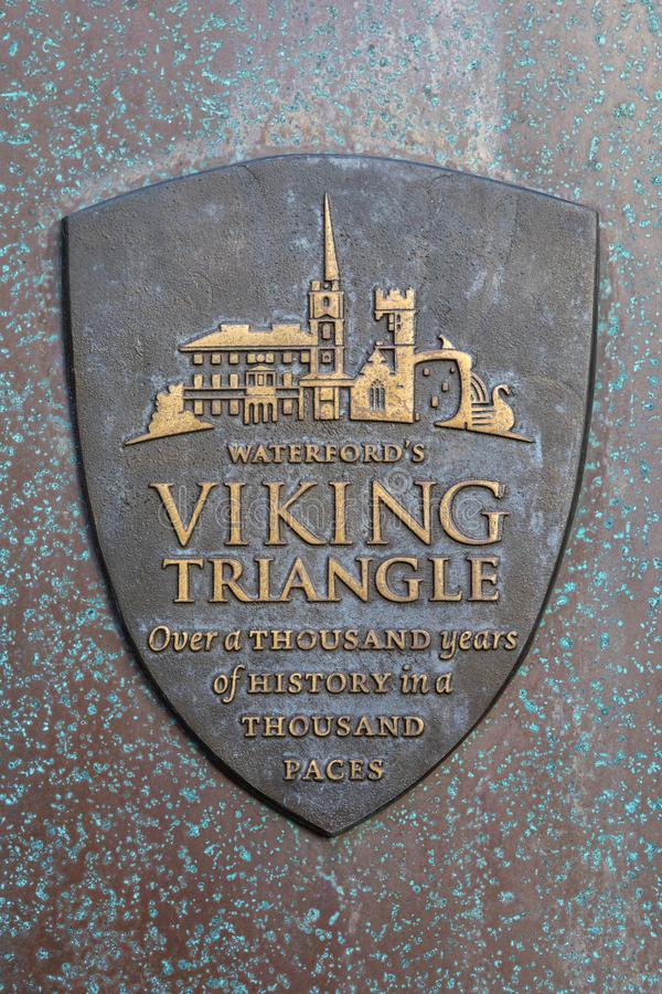 Viking Triangle en Waterford imagen de archivo