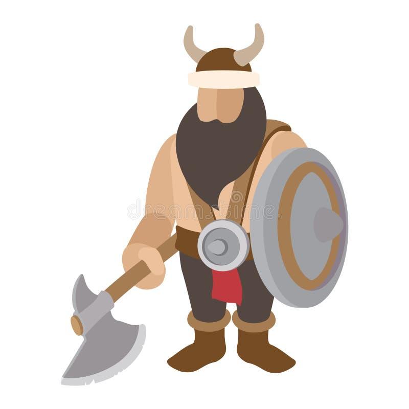 Viking-tribune met schildkarakter royalty-vrije illustratie