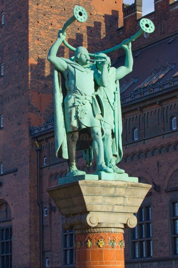 Viking Trumpeters jumeau photos libres de droits