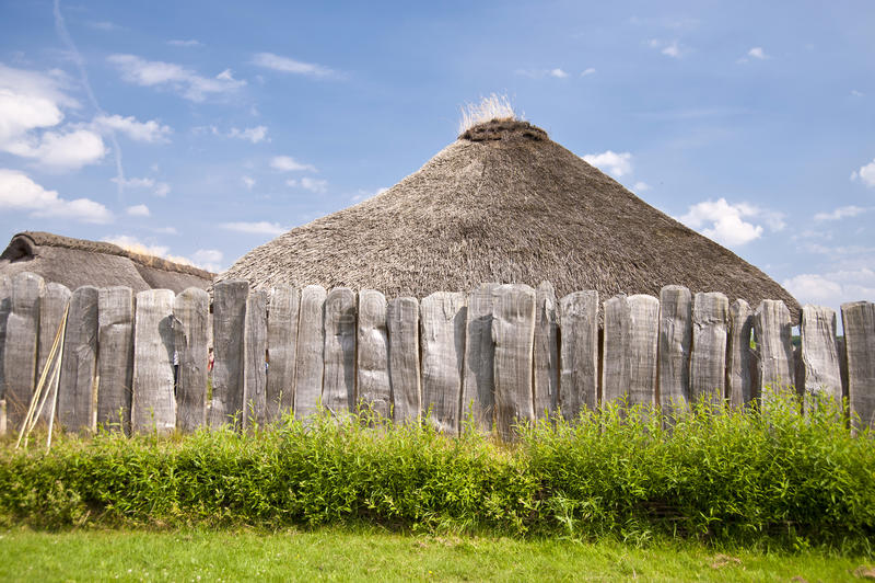 Viking Village imagenes de archivo