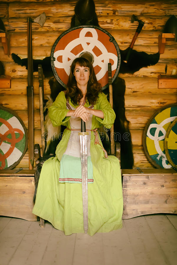 Viking-vrouw stock foto