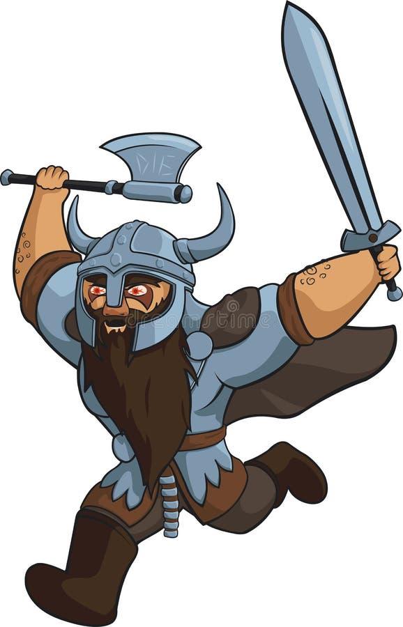 Viking Warrior royalty-vrije illustratie