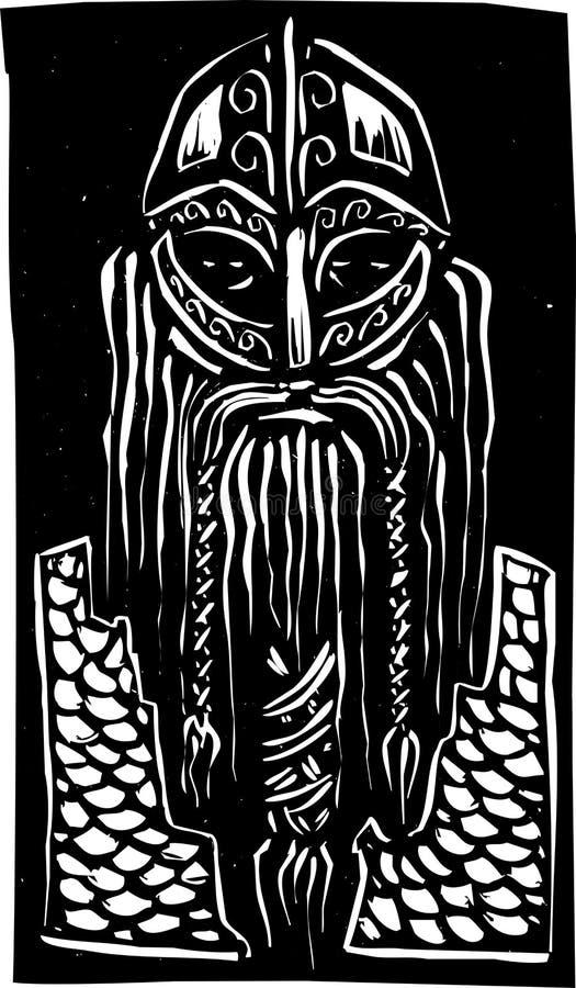 Viking Warrior royalty illustrazione gratis