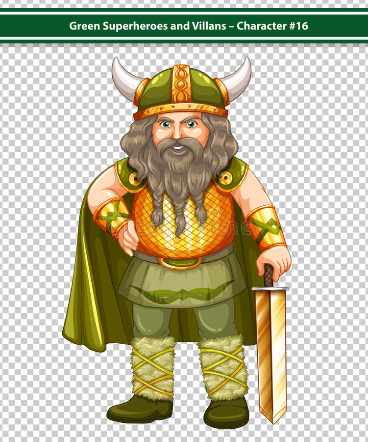 Viking Warrior stock de ilustración