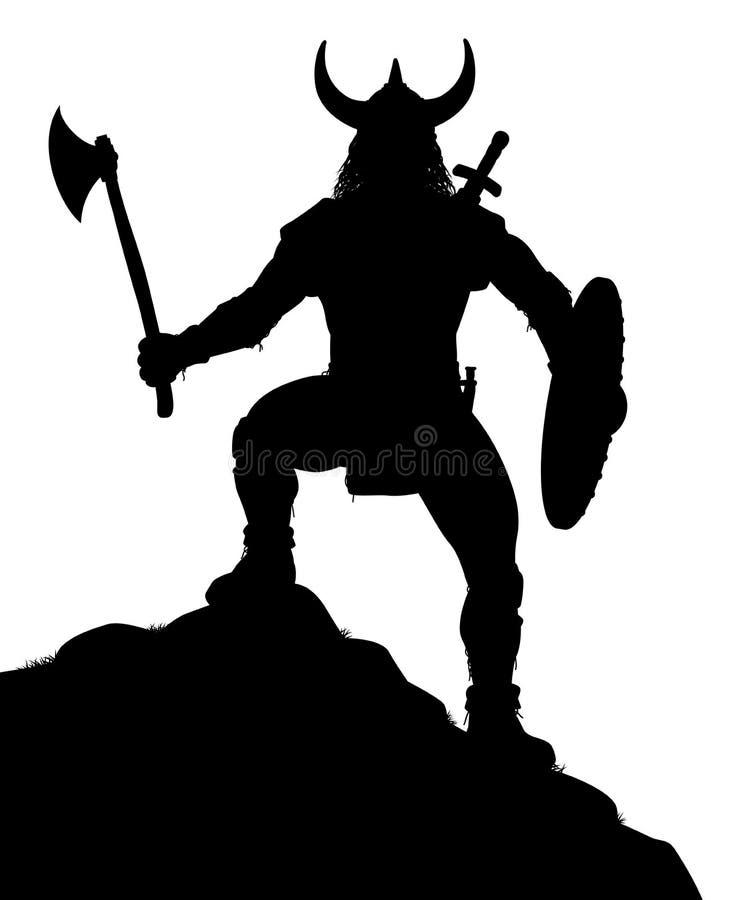 Viking Warrior vektor illustrationer