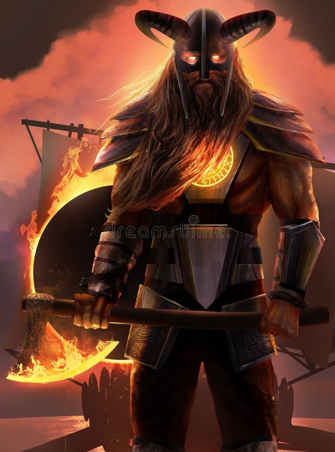 Viking warrior stock illustration
