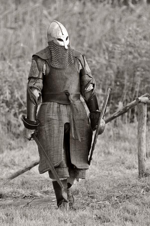 Viking warrior (B&W). royalty free stock photos
