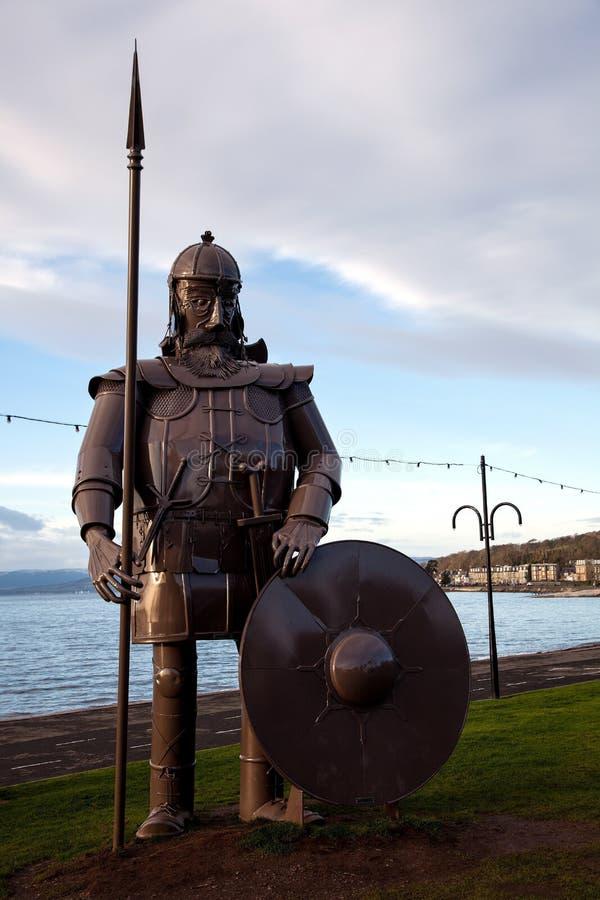Viking Warrior Effigy på Largs Skottland royaltyfri bild