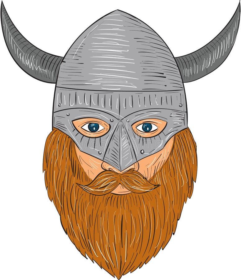 Viking Warrior Head Drawing Stock Illustration ...