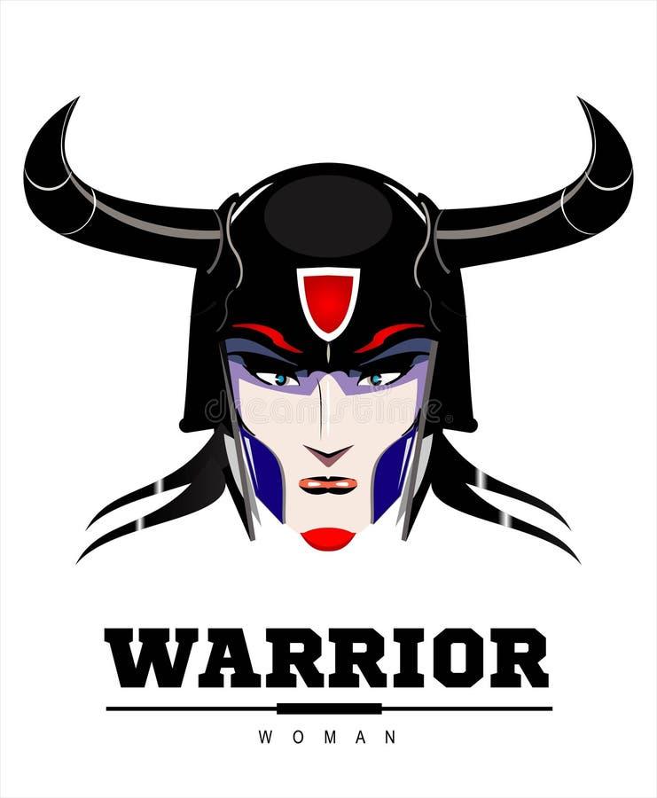 Viking Warrior Lady bonito ilustração royalty free