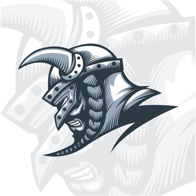 Viking Warrior monocromatico royalty illustrazione gratis
