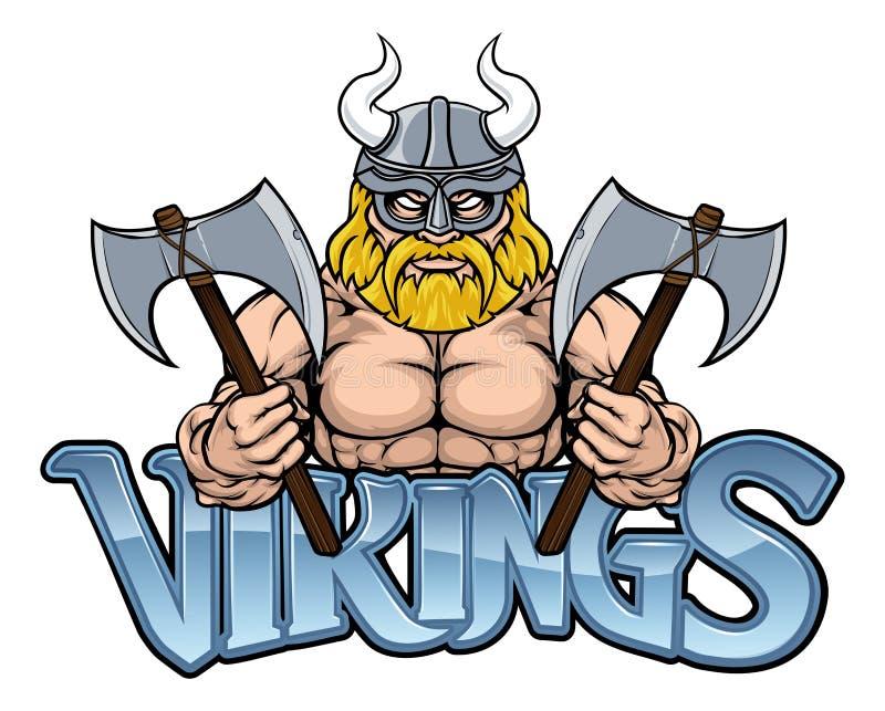 Viking Warrior Sports Mascot illustration libre de droits
