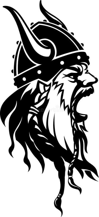 Viking Warriors Wrath ilustración del vector