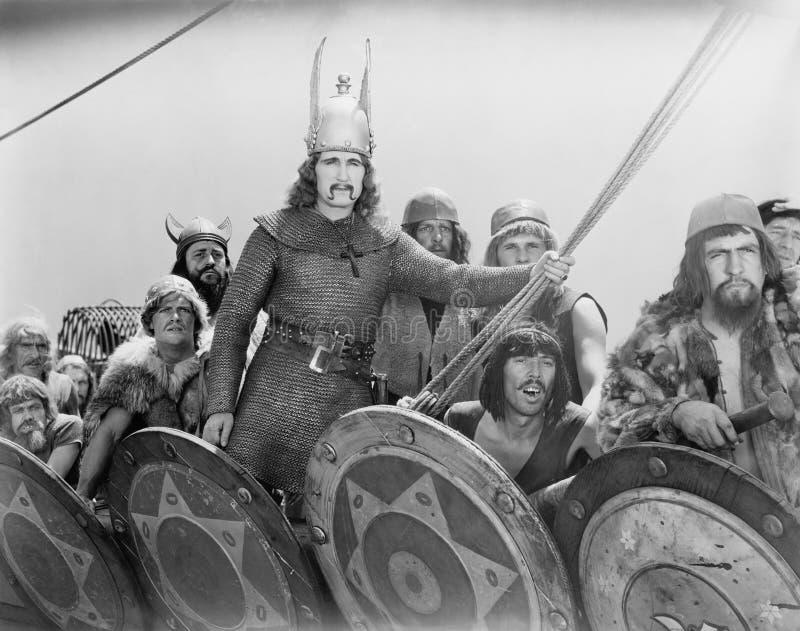 VIKING wojownicy (Wszystkie persons przedstawiający no są długiego utrzymania i żadny nieruchomość istnieje Dostawca gwarancje że zdjęcie stock