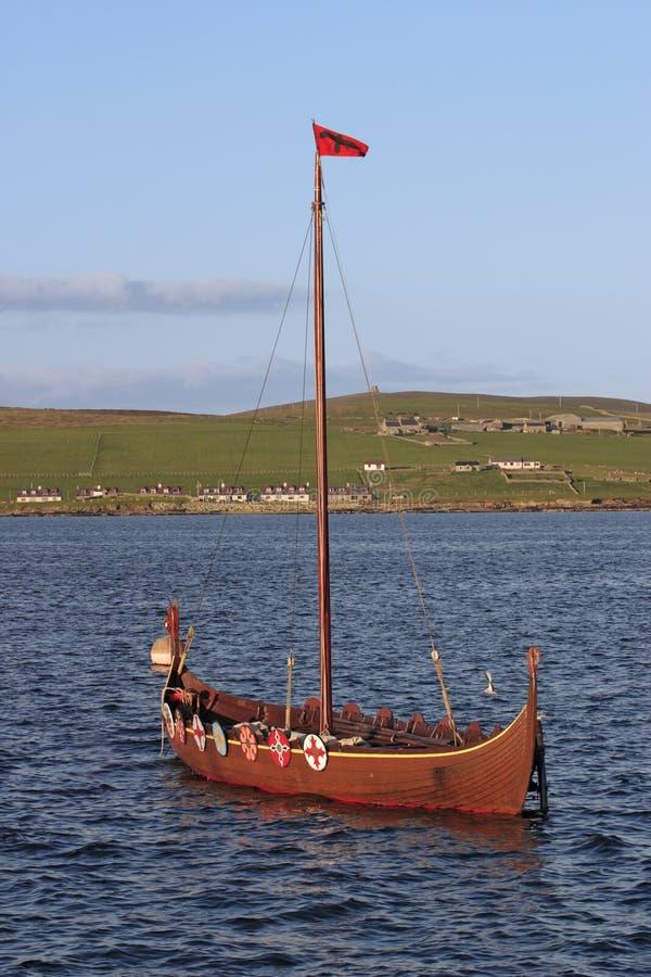 Vikingboat imagen de archivo