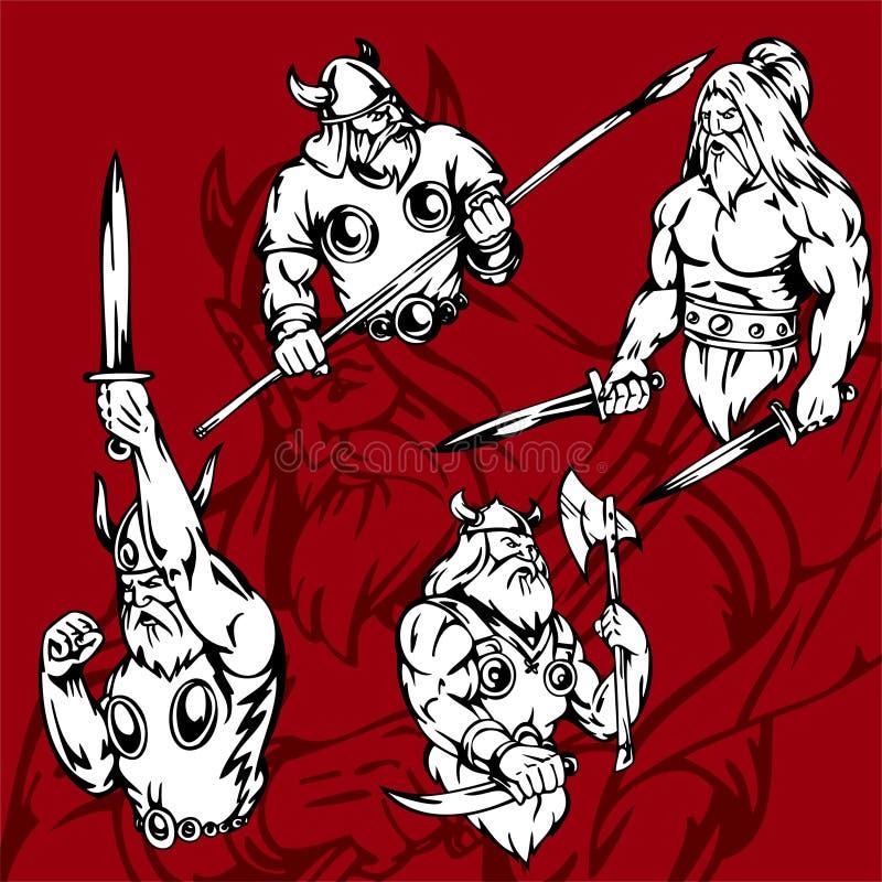 Vikingen. stock illustratie