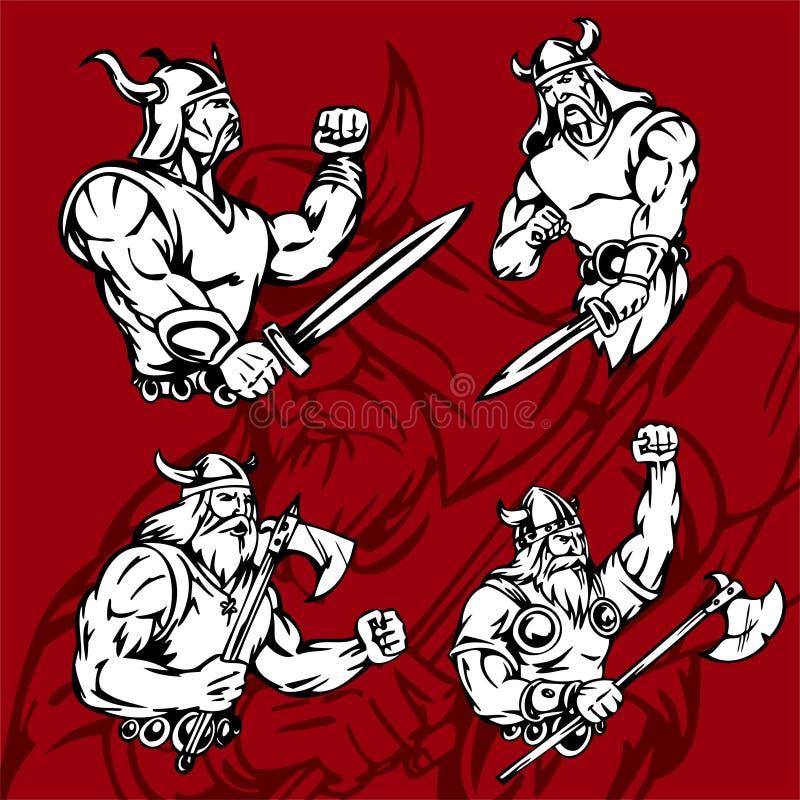 Vikingen. royalty-vrije illustratie