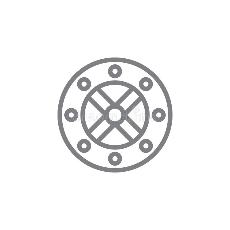 Vikingen syr symbolen Best?ndsdel av myphologysymbolen Tunn linje symbol f?r websitedesignen och utveckling, app-utveckling h?gv? stock illustrationer