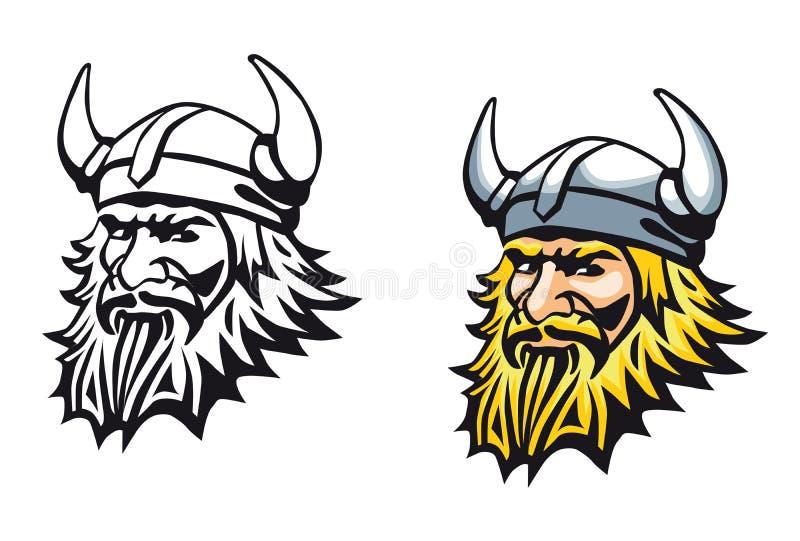 Vikingo antiguo ilustración del vector
