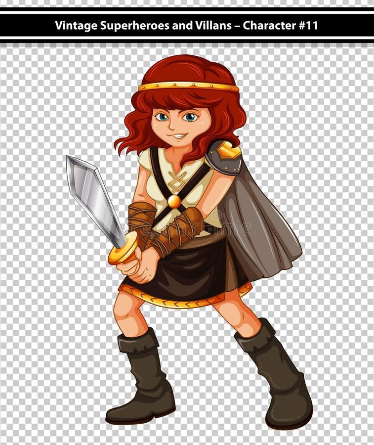 Vikingo femenino ilustración del vector