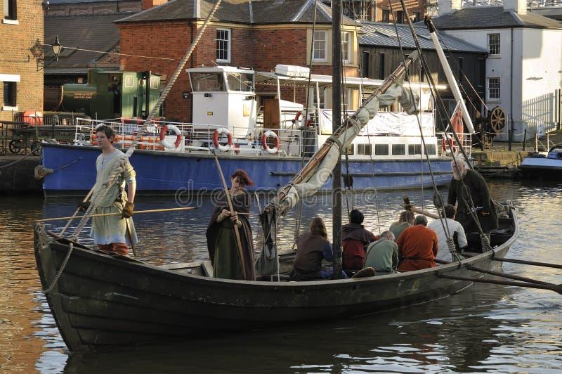 Vikingo Longship imágenes de archivo libres de regalías