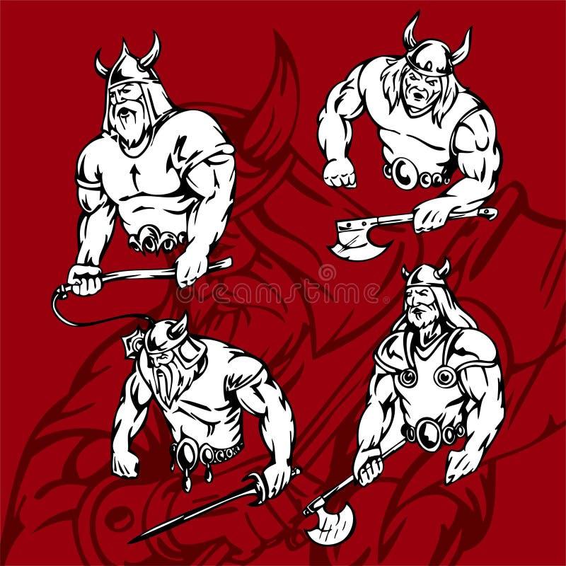 Vikings. illustration de vecteur