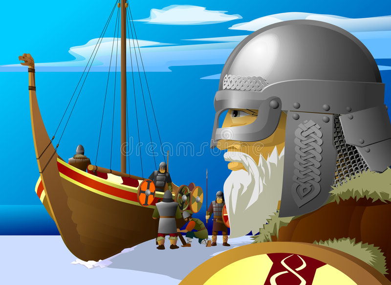 vikings royaltyfri foto