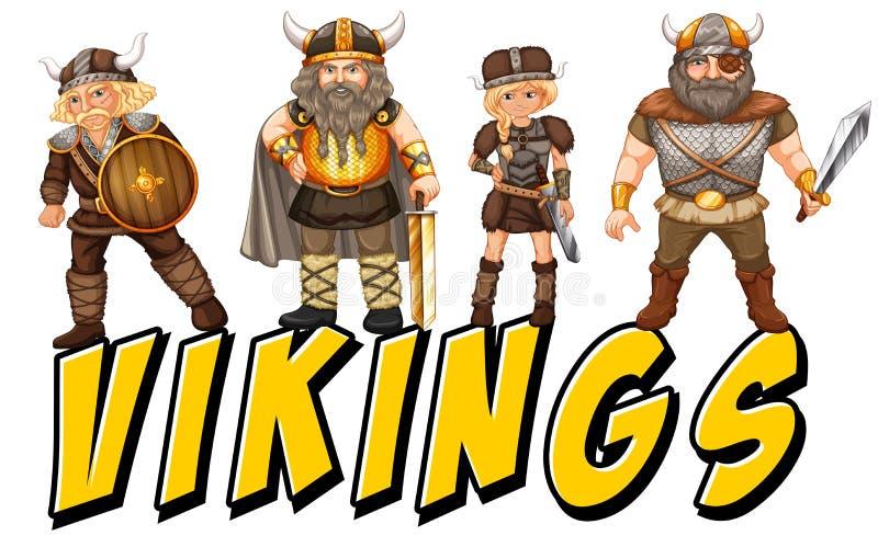 vikings stock illustrationer