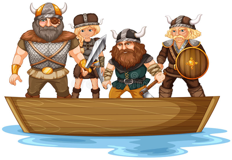 vikings royaltyfri illustrationer