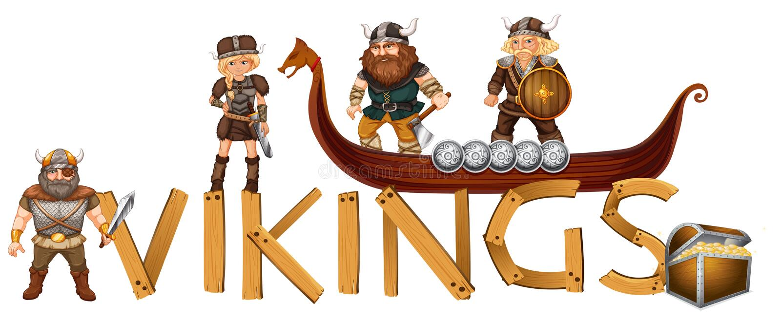 vikings illustration libre de droits