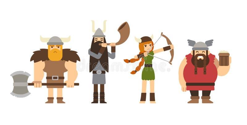vikings ilustración del vector