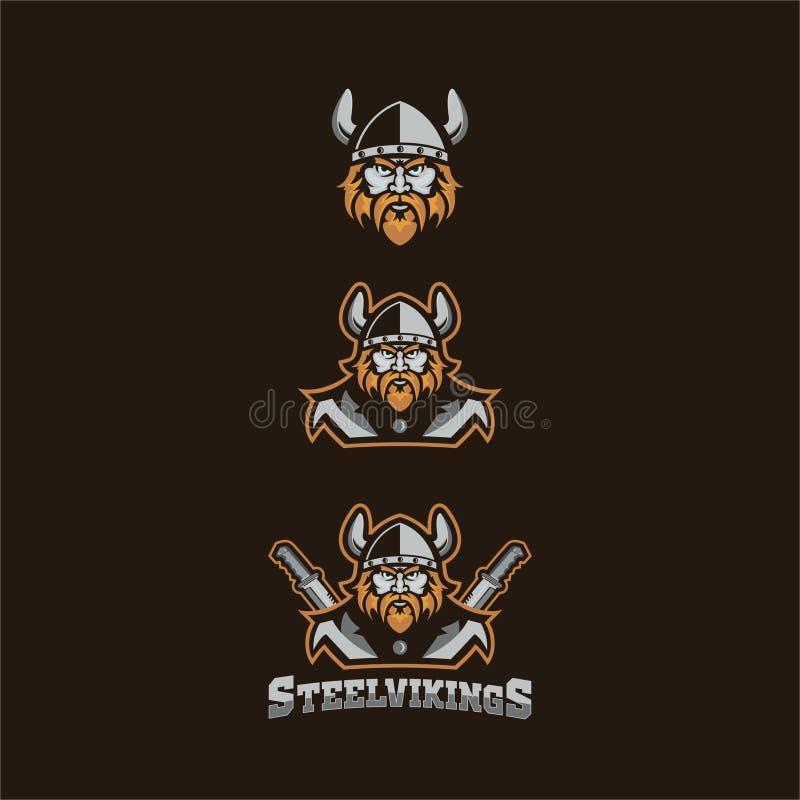 Vikings. E-sportl logo concept for buy stock illustration