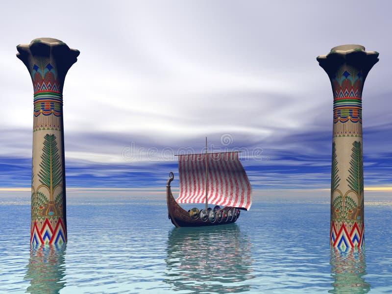Vikings egiptu ilustracja wektor