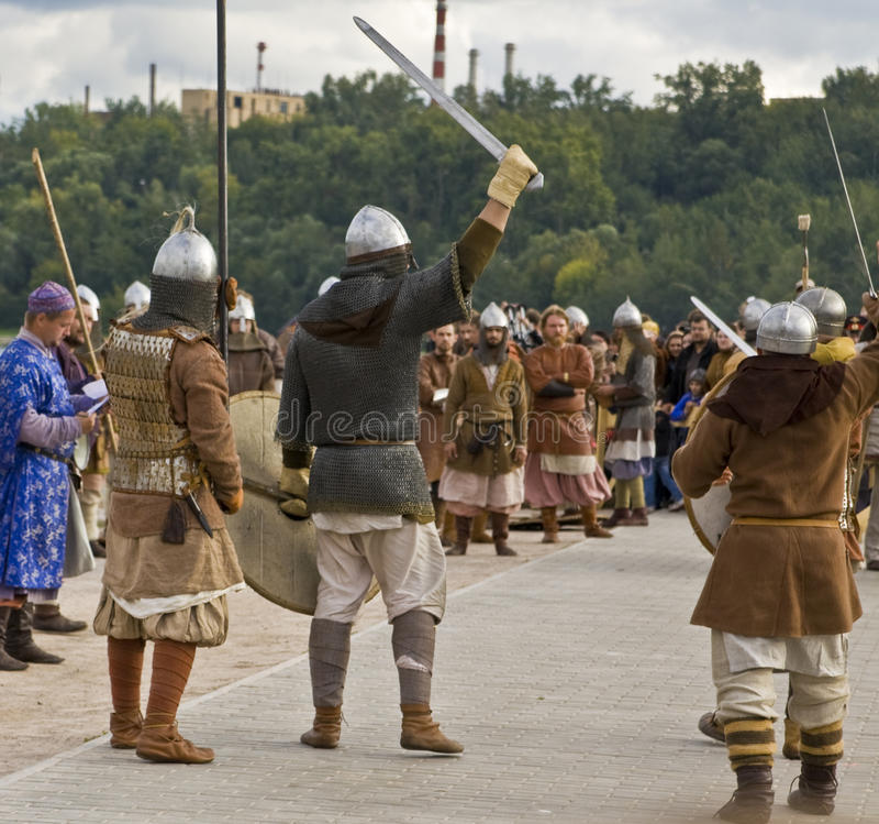 Vikings, historical vestival stock image