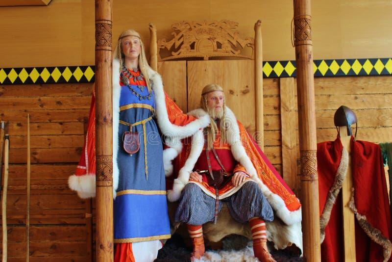 Vikings, królewska para Norwegia fotografia royalty free