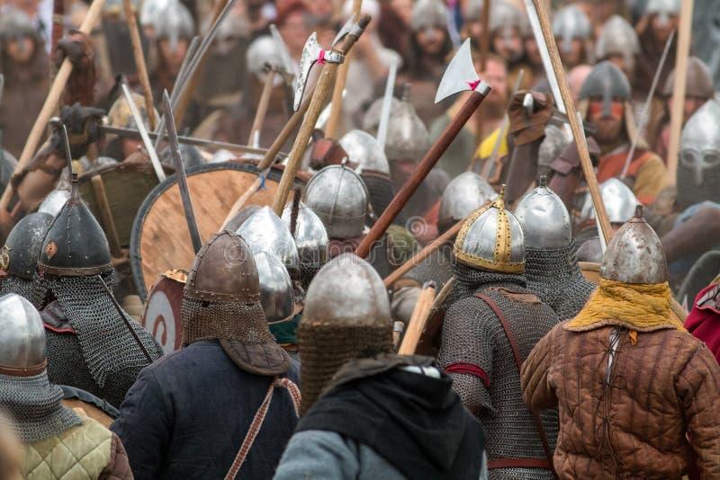 vikings Stålarmé royaltyfria bilder