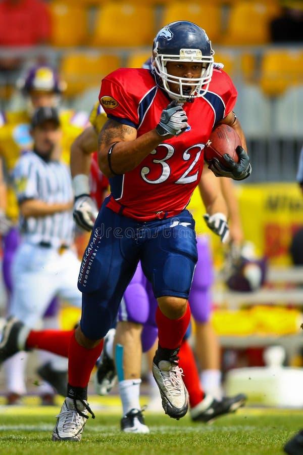 Vikings vs. Broncos royalty free stock photography