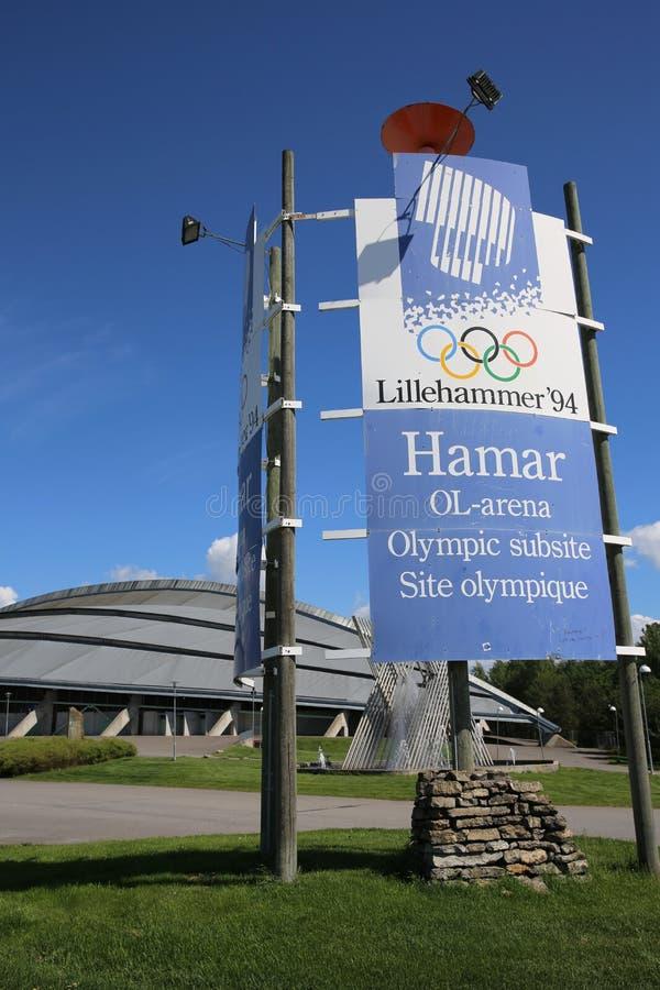 Vikingskipet em Hamar fotos de stock
