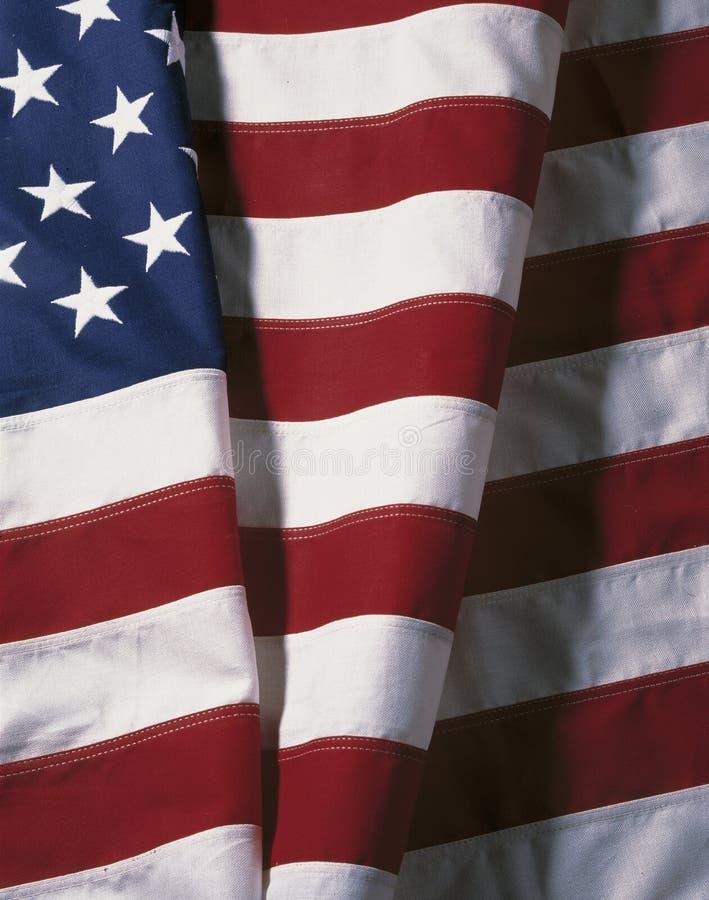 Vikt amerikanska flaggan arkivbild