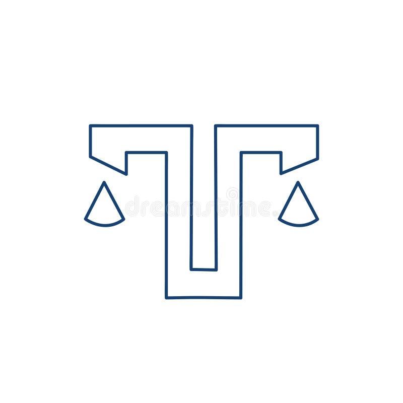 Vikt med bokstav T eller V vektor illustrationer