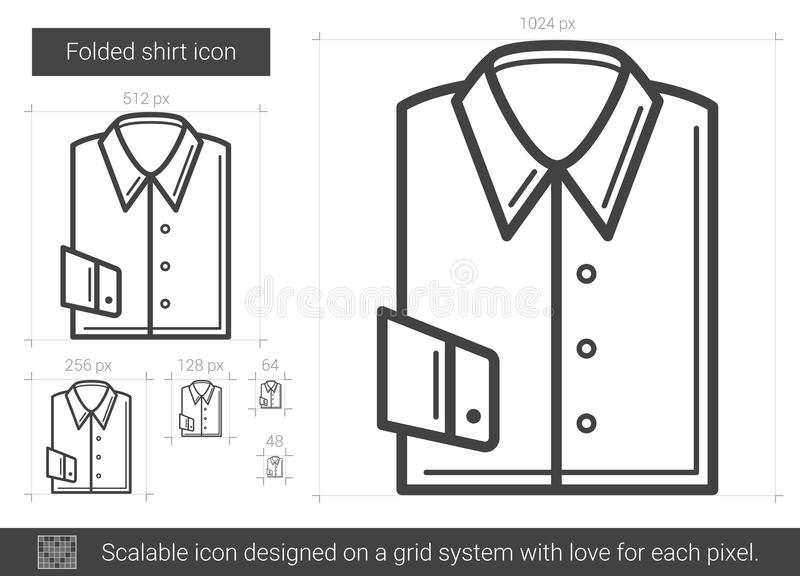 Vikt skjortalinje symbol stock illustrationer