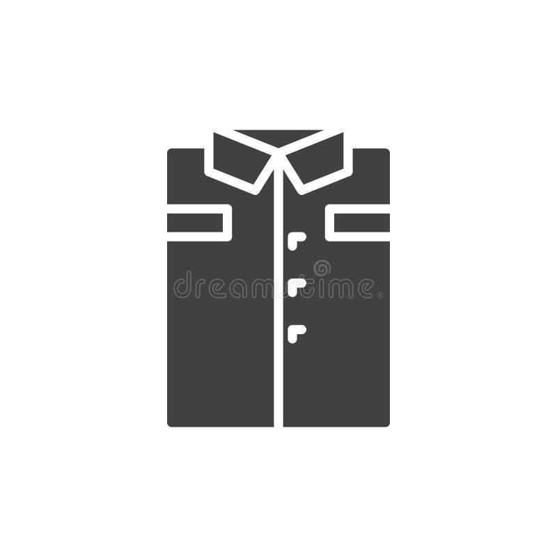 Vikt skjortasymbolsvektor, fyllt plant tecken, fast pictogram som isoleras på vit royaltyfri illustrationer