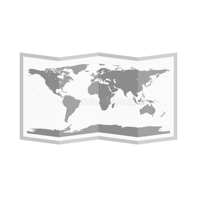 Vikt världskarta Plan stil vektor vektor illustrationer
