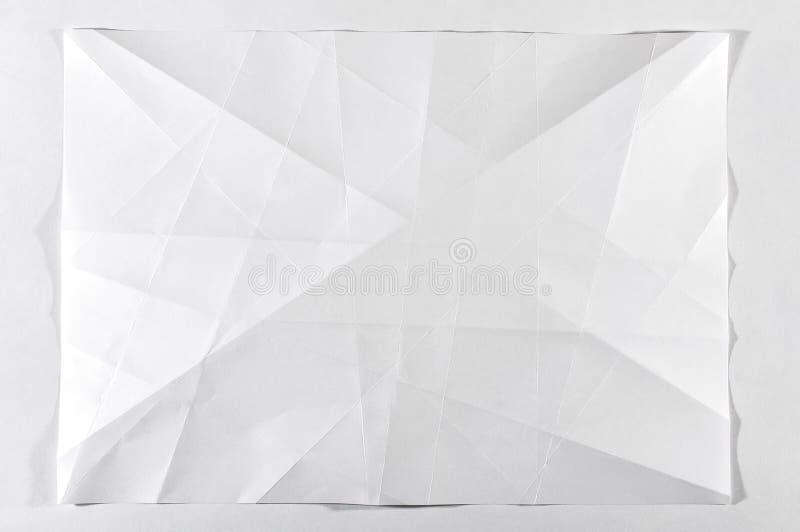 Vikt vitt tomt dokument arkivbilder