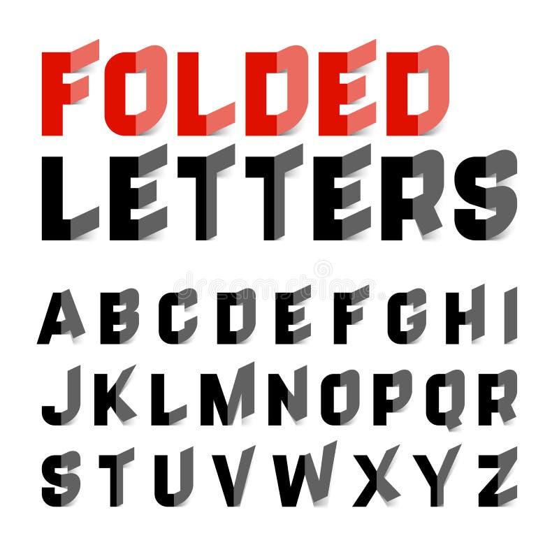 Vikta alfabetbokstäver royaltyfri illustrationer